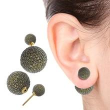 Pave Diamond Gemstone Earring Stud Gemstone Earring, Gold Stud Earring Designer Stud Bads Earring, Gemstone Beads Earring Stud