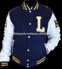 college style / wool varsity baseball jacket, Mens Varsity Jackets, Leather Sleeves
