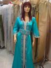 Turquoise beaded Moroccan kaftan, Takchita