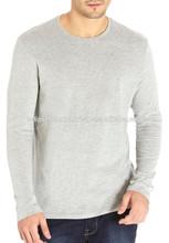 Enzyme Washed Soft feel Mens Long Sleeve Plain T shirt Manufacturer