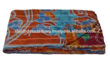 Vintage Kantha Quilt Throw Wholesale Lot of Indian Reversible Handmade Bedspread Bedding Blanket Ralli