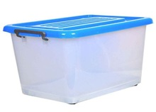 PLASTIC STORAGE BOX WITH WHEELS & HANDLES 5666L