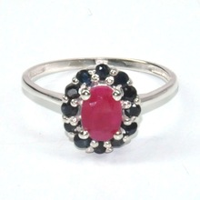 Beautiful Fashion Ring Factory price heart shaped ruby ring