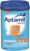 Disponível milupa aptamil leiteem pó: pre, 1,2,3,1+, 2+.