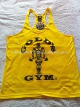 Plain Deepcut Bodybuilding Stringer Singlets Golds Gym Tank Tops Fitness Workout Racerback Quality plain tank top gym men