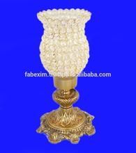 Antique Hurricane Crystal Candle Holder , Aluminium Crystal Hurricane Candle Holder , Hurricane Candle Holder