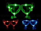 "LED blinking glasses ""Cocktail glass"" several colors"
