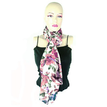 Polly Cotton Floral Printed Neck Wrap Women's Stole, Scarf