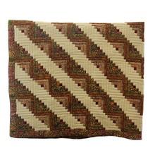 Log Cabin Batik Bed Cover
