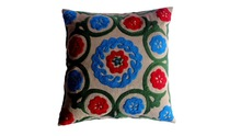 RTHCC-26 Export Quality Suzani Embroidered Cotton Fabric cushion covers Christmas Home Decor