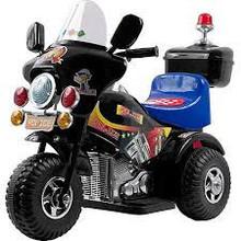 Lil Rider Deputy 3-Wheel Motorcycle 6-Volt Battery-Powered Ride-On Black