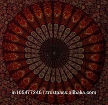 Indian Mandala Tapestry Bohemian Block Bed Sheet /Bed Spread Hippie Mandala Indian Tapestry Cotton Wall Hanging Bed cover