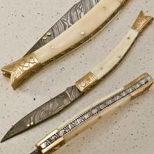 CUSTOM DAMASCUS FOLDING POCKET KNIFE (SLIP JOINT)