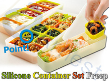 kitchenware cooking tools storage utensils food plastic case silicone container set bento lunch box 75815