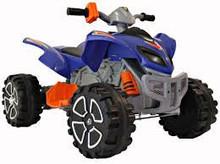Rocket Raptor Extreme 12v Ride On Electric Kids Quad Blue
