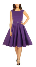 2014 new arrival sexy rockabilly retro vintage 50s purple dress(jive rockabilly dress)