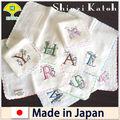 Mouchoir de broderieinitiale/& mouchoir de gaze blanche pile/thaïlande.industrie