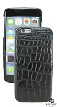 "PELGIO Genuine Crocodile Belly Skin Mobile Phone i6 4.7"" Hard Case Black"