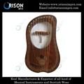 10 cordas metálicas lira harp
