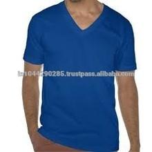 fashion custom v collar mens half sleeve t shirt