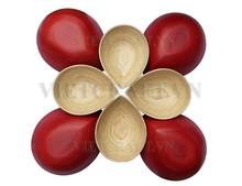 Bamboo bowls in tear drop shape