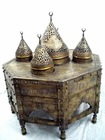 Antique Reproduction Silver-Inlaid Incense Burner