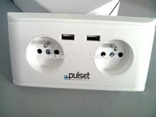5.0V 2A Plug Electrical Wall Socket Dual USB Port for EU Market