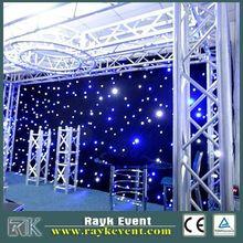2015new luxury led star cloth curtain