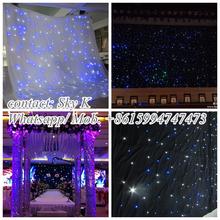 2015newest curtain home textiles fiber optical clothes/ led star curtain