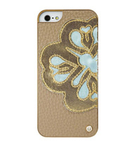 Uunique phone case for iphone 5 - Luxury Laser Gold Applique Hard Shell