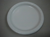 Disposable Paper Plate, Round Shape, With PE Coating