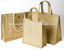 Promotional eco friendly recycle Jute bags/ jute shopper bags