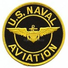 Patch U.S. Naval Aviation Black Gold Top Gun