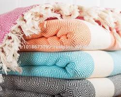 100% Cotton Throw Blanket, Sofa Cover, sofa throw, Decorative use. Heavy