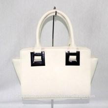 White color women's leather handbags , new design Japan wholesale