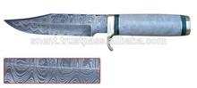 CUSTOM DAMASCUS STEEL HUNTING KNIFE