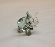 Glass elephant perfect for wedding gift + favor idea