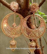 Copper jewelry big earrings