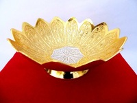 Beautiful gift item, return gift, home and garden decoration brass gold and silver plated bowl