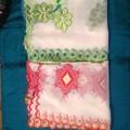 mejor calidad de los diseños de flores de gasa bordado mantón con zari 40x82 pulgadas