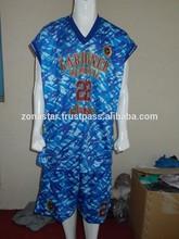 Camouflage Basketball Uniforms / Lightweight Sublimated Basketball Uniforms/100% Polyester Basketball Wears