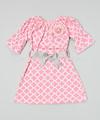 de color rosa congelados quatrefoil campesino de vestir para niñas bebés y niños