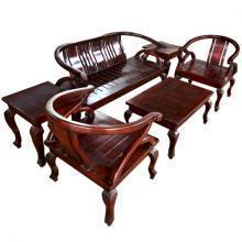 Wooden Assembled Singapore Style Lounge Set 6 Pcs