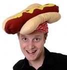 Funny Hot Dog party hat novelty food fancy dress