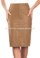womens Genuine Lamb leather Pencil skirts