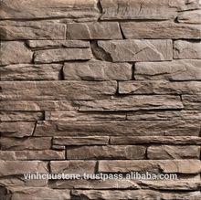 Light concrete artificial ledge walling stone - Vietnamese Cladding stone