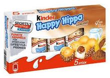 Ferrero Kinder Happy Hippo, 28 Single Bars, Counter Display