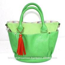 Fresh Green japan pu bag for women , handbag ,office and shopping