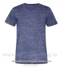 ผ้าฝ้าย100%v- คอslubเสื้อยืด