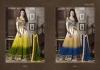 Georgette Anarkali style dress with Heavy work.